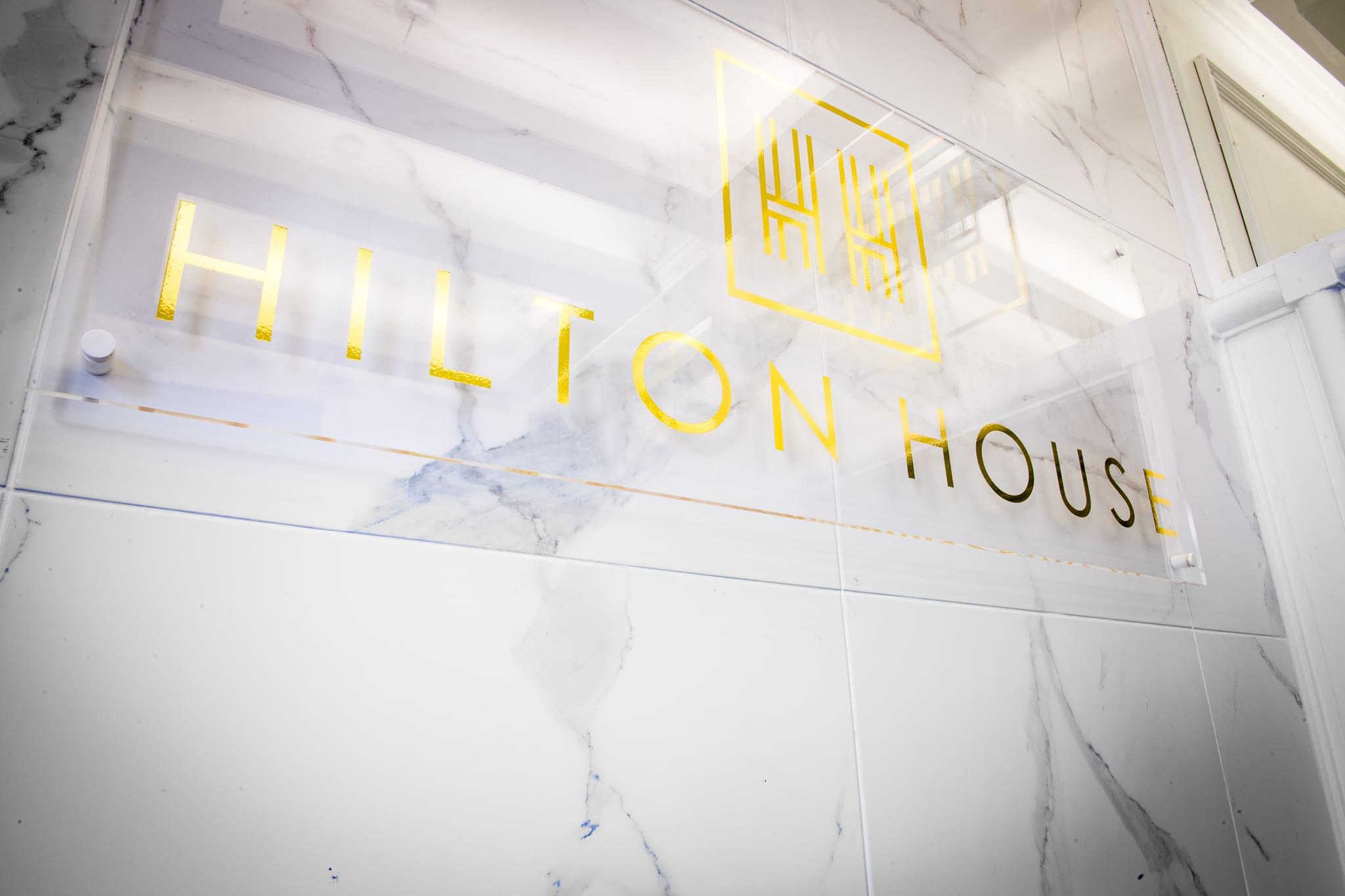 Hilton House Plaque